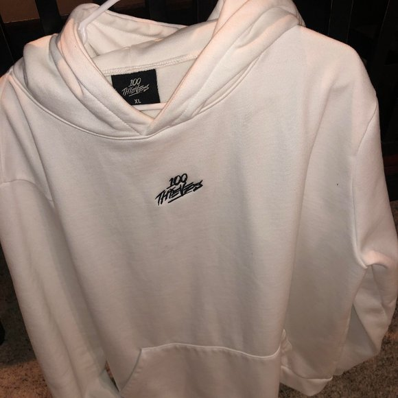 100% high quality get online factory price 100 thieves Jackets & Coats | Cream Hoodie Size Xl | Poshmark